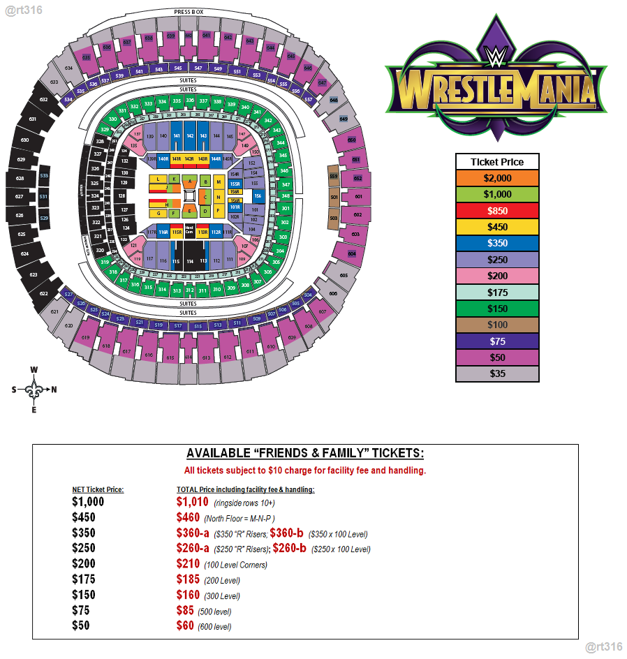 Wrestlemania 34 Seating Chart >> WrestleMania 34 - The Ultimate Travel Thread - Page 208 - Wrestling Forum: WWE, Impact Wrestling ...
